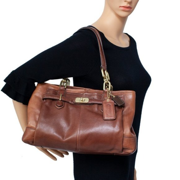 Coach Carryall Chelsea Brown Leather Shoulder Bag
